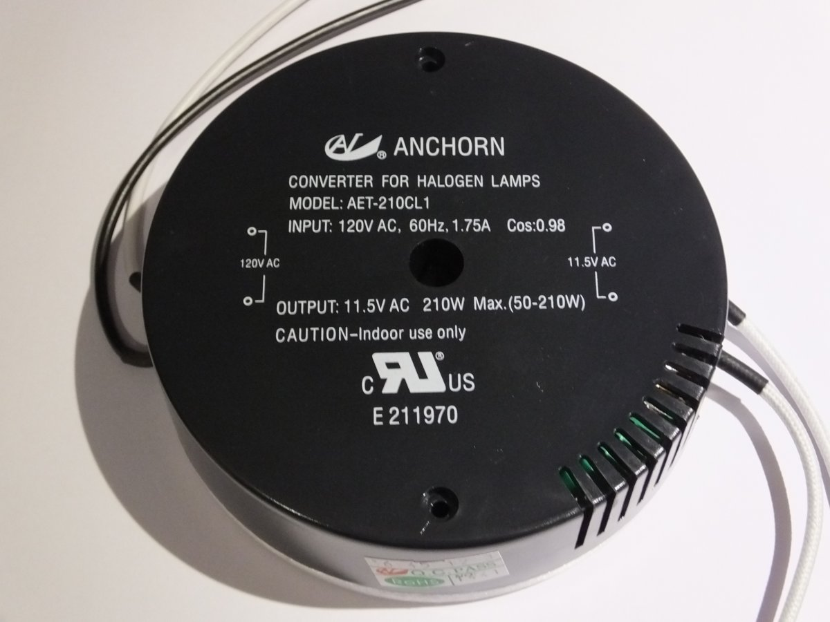 ANCHORN AET-210CL1 120v 210w ELECTRONIC TRANSFORMER