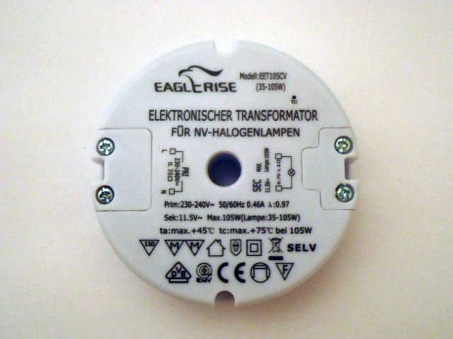 EAGLERISE EET / SET105CV ELECTRONIC TRANSFORMER