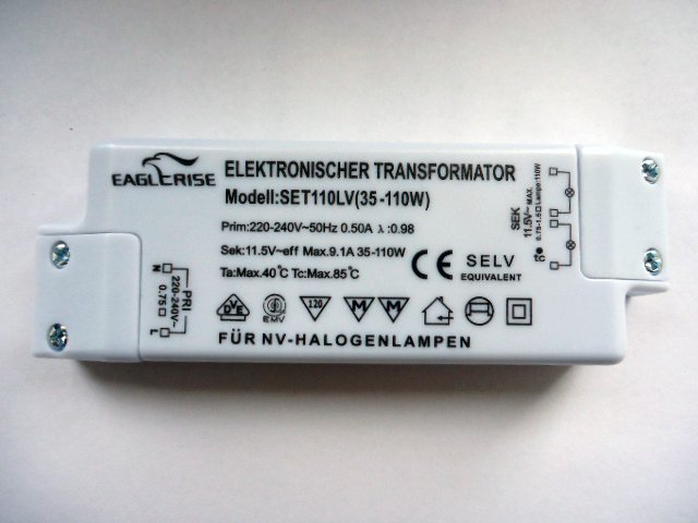 EAGLERISE SET110LV ELECTRONIC TRANSFORMER (LAST BATCH)