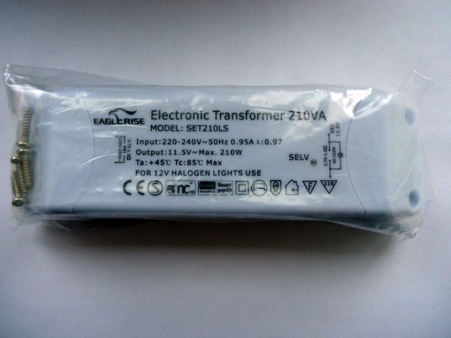 EAGLERISE SET210LS ELECTRONIC TRANSFORMER (DISCONTINUED)