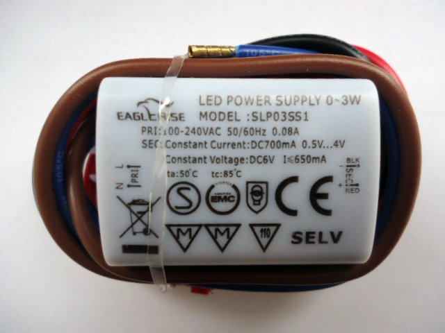 EAGLERISE SLP03SS1 LED POWER SUPPLY TRANSFORMER