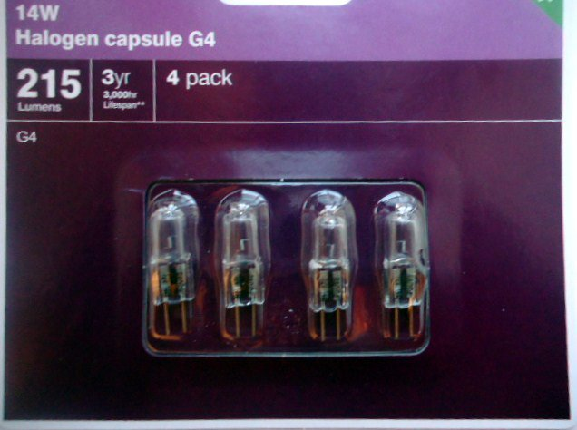 G4 14w 12v HALOGEN CAPSULE BULBS