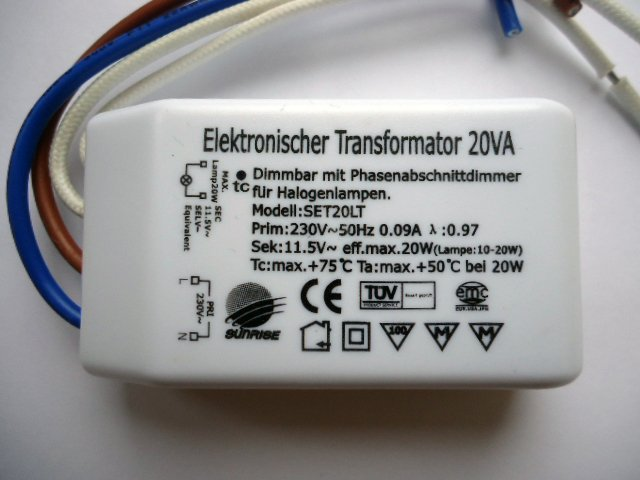 EAGLERISE SET20LT ELECTRONIC TRANSFORMER (DISCONTINUED)