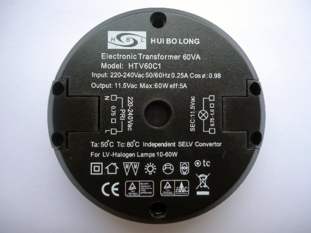HUIBOLONG HTV60C1 ELECTRONIC TRANSFORMER