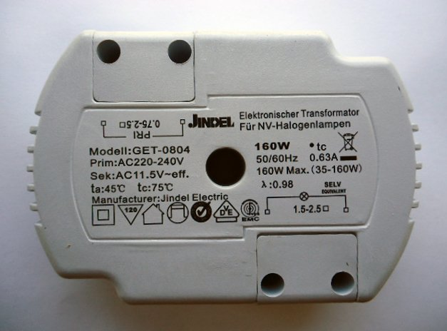 JINDEL GET-0804 160w ELECTRONIC TRANSFORMER (DISCONTINUED)