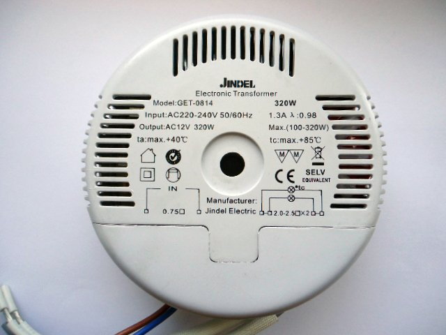 JINDEL GET-0814 320w ELECTRONIC TRANSFORMER (DISCONTINUED)