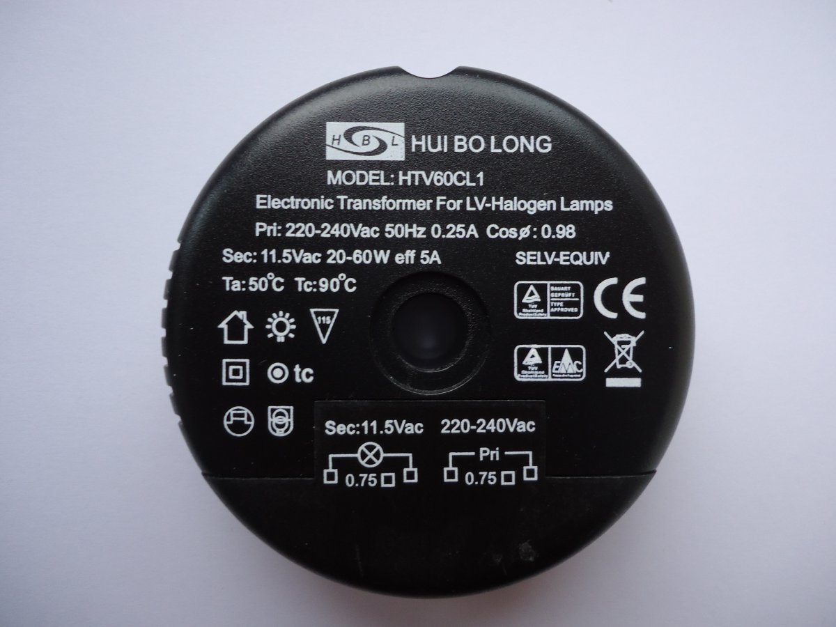 HUIBOLONG HTV60CL1 ELECTRONIC TRANSFORMER