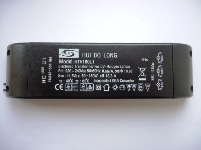 HUIBOLONG HTV160L1 ELECTRONIC TRANSFORMER