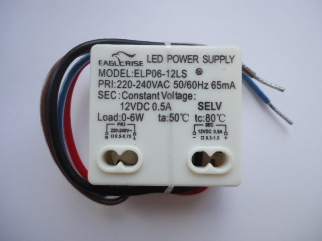 EAGLERISE ELP06-12LS ELP006V0120LT LED DRIVER CONSTANT VOLTAGE (DISCONTINUED)