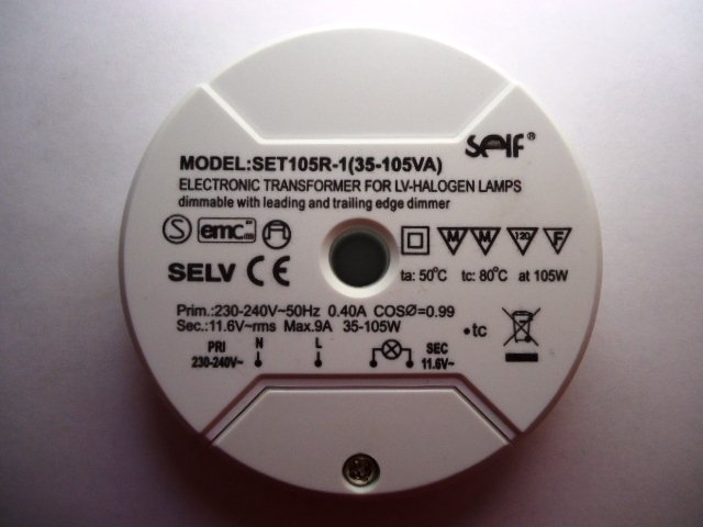 SELF SET105R-1 ELECTRONIC TRANSFORMER (DISCONTINUED)