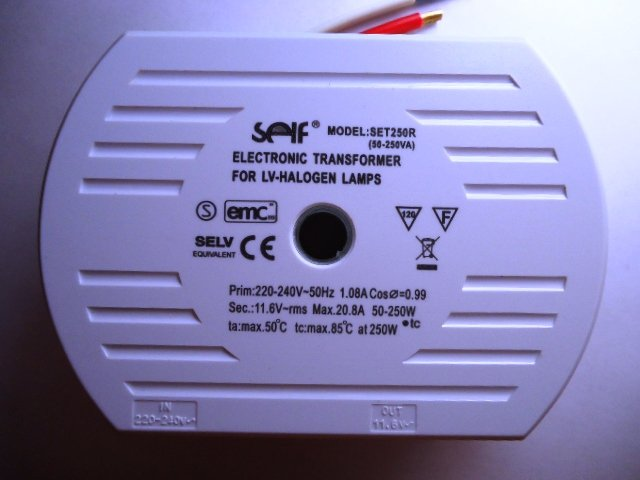 SELF SET250R ELECTRONIC TRANSFORMER (DISCONTINUED)