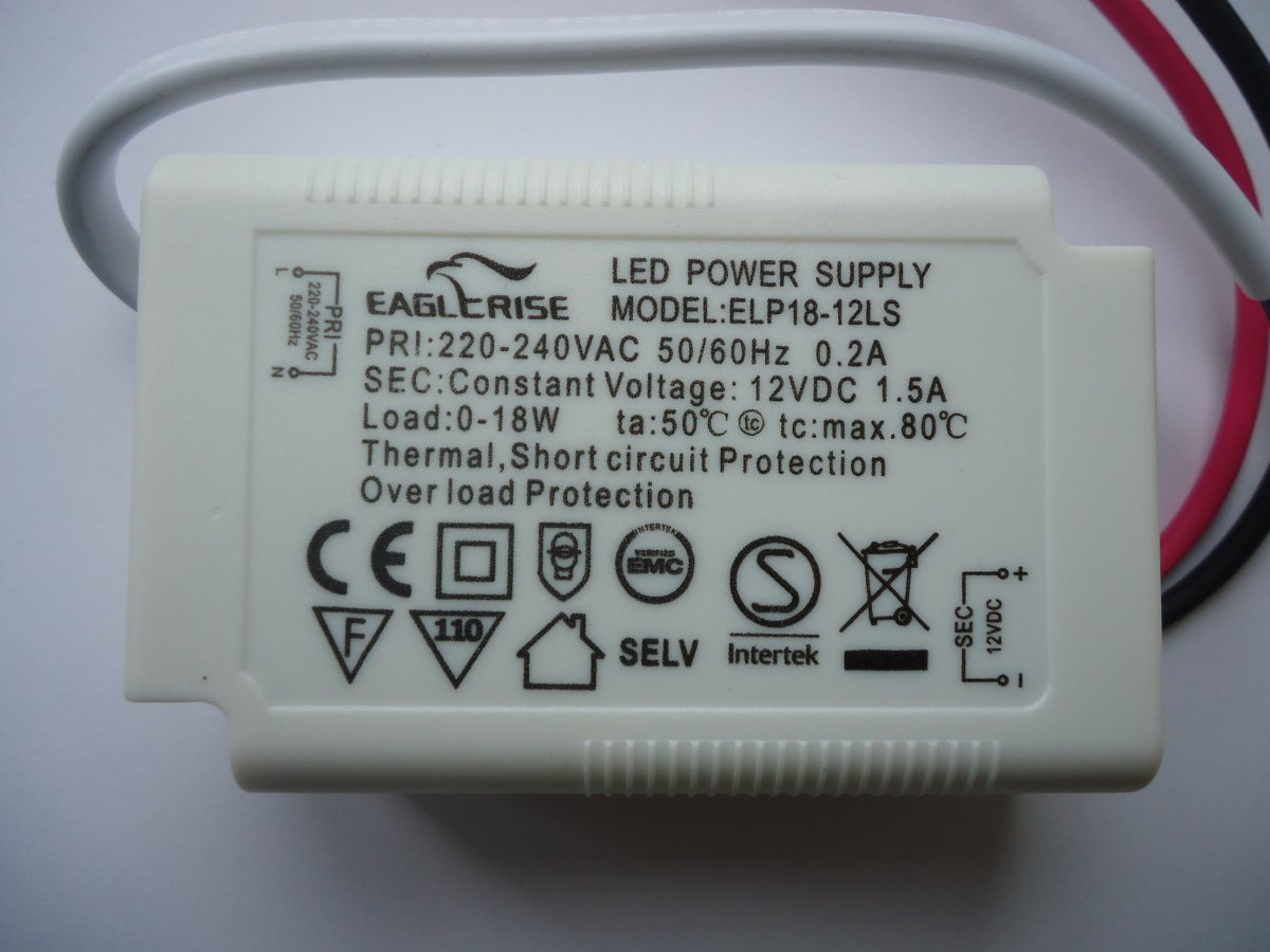 EAGLERISE ELP18-12LS LED DRIVER CONSTANT VOLTAGE (DISCONTINUED)