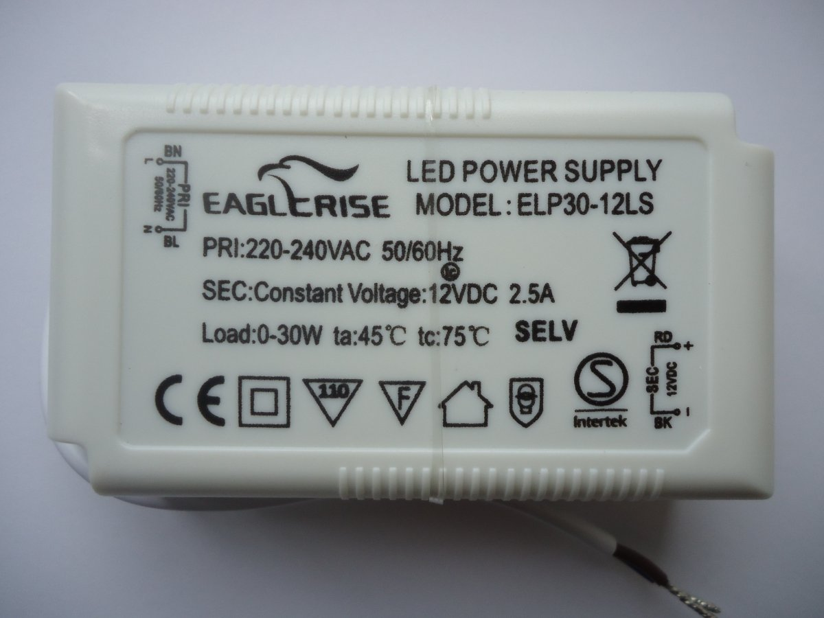 EAGLERISE ELP30-12LS LED DRIVER CONSTANT VOLTAGE (DISCONTINUED)