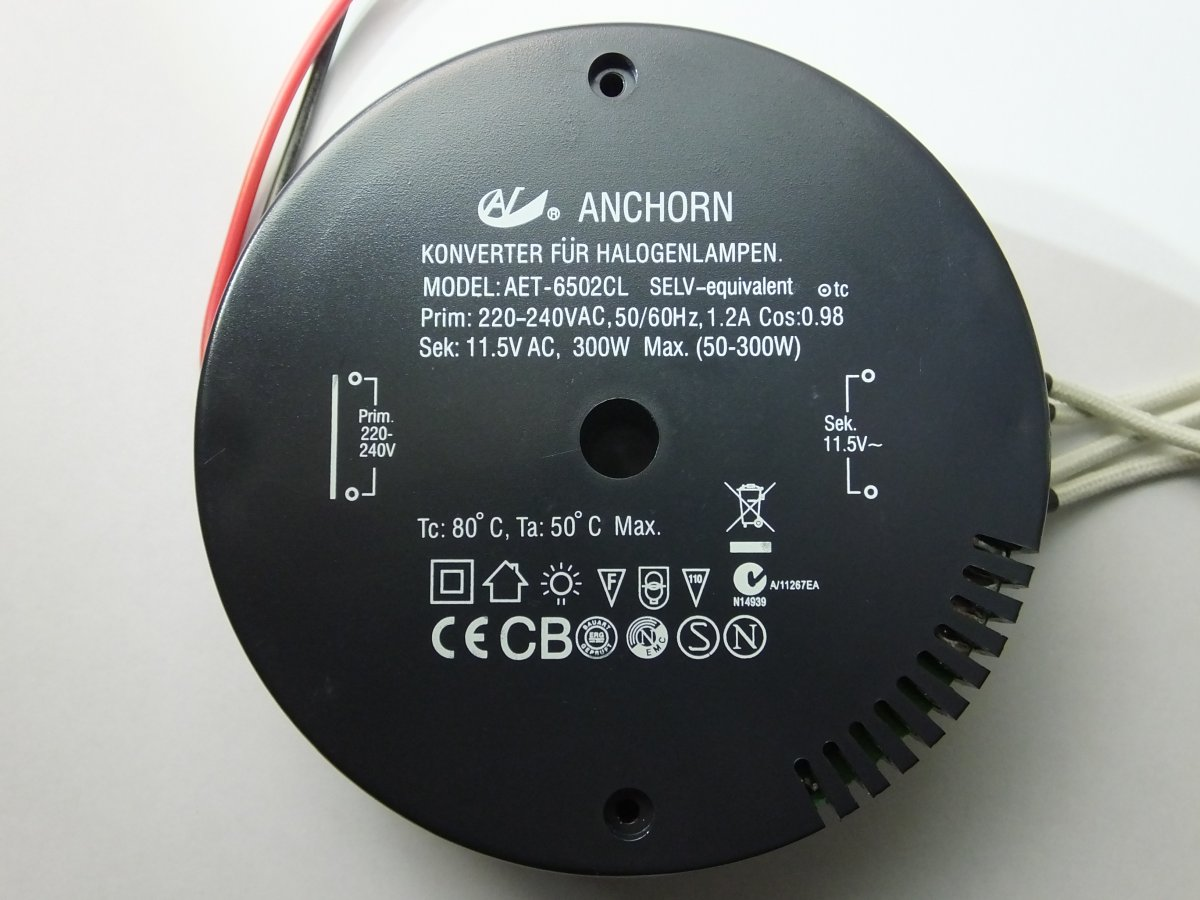 ANCHORN AET-6502CL 300w ELECTRONIC TRANSFORMER