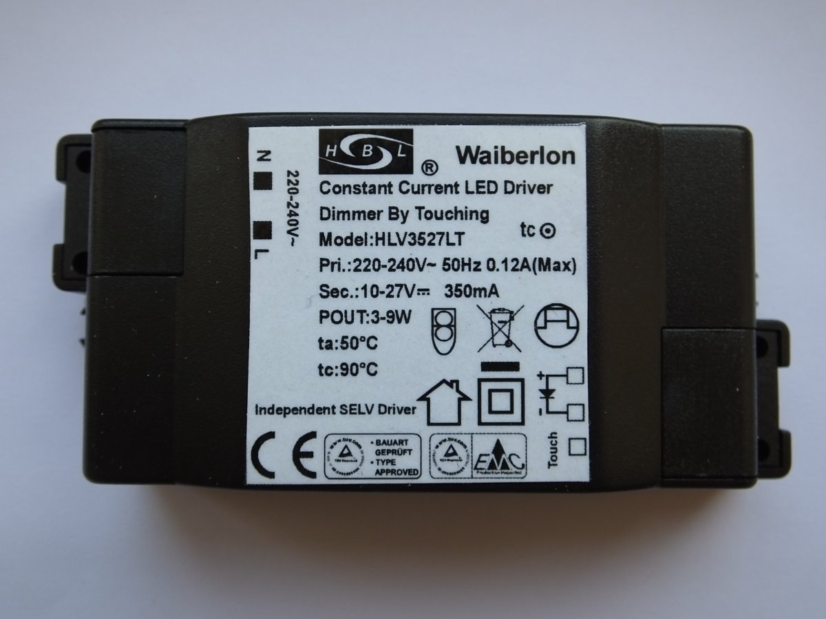 WAIBERLON HLV3527LT TOUCHER CONDUCTEUR DE COURANT CONSTANT DIMMABLE LED