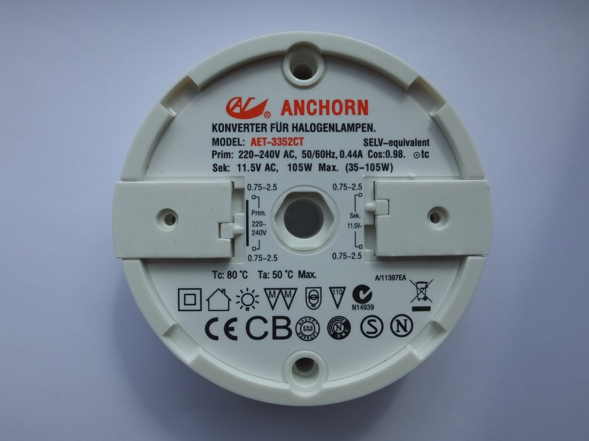 ANCHORN AET-6352CT1 210w ELECTRONIC TRANSFORMER