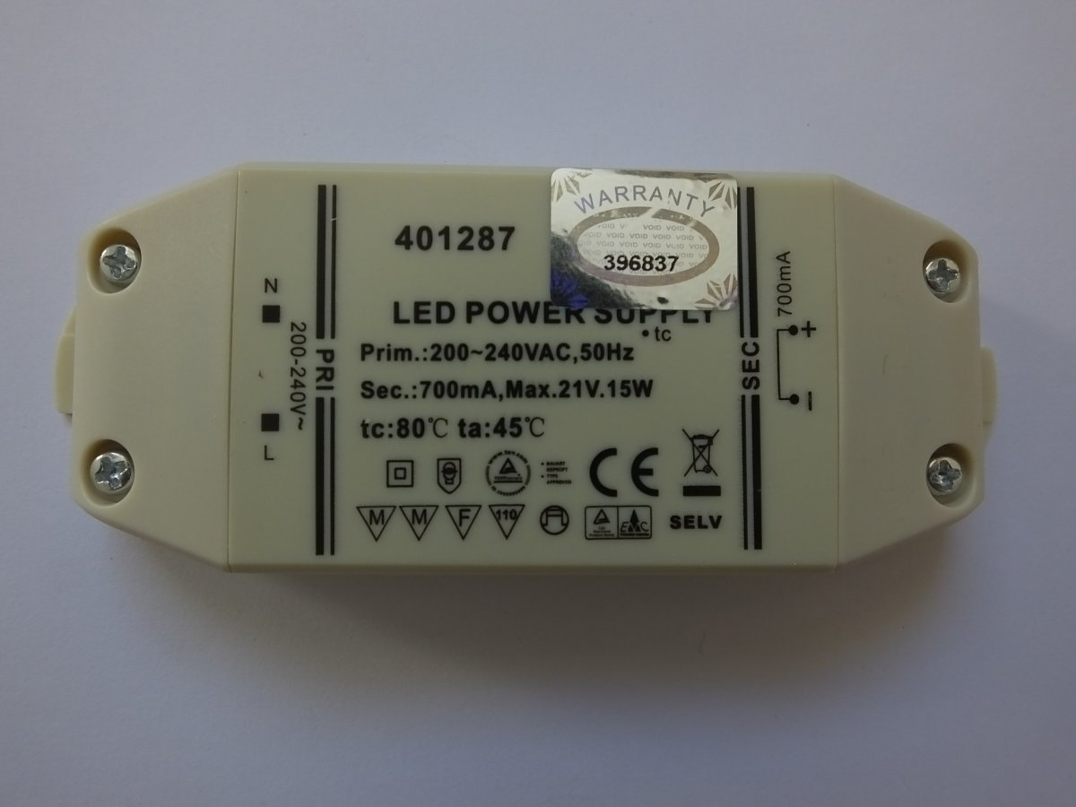 SML 401287 700mA 15w LED DRIVER CONSTANT CURRENT
