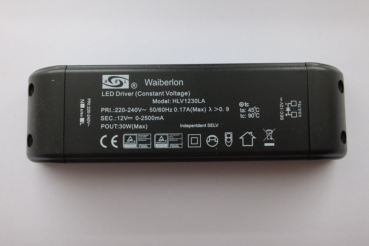 WAIBERLON HLV1230LA CONSTANT VOLTAGE LED DRIVER