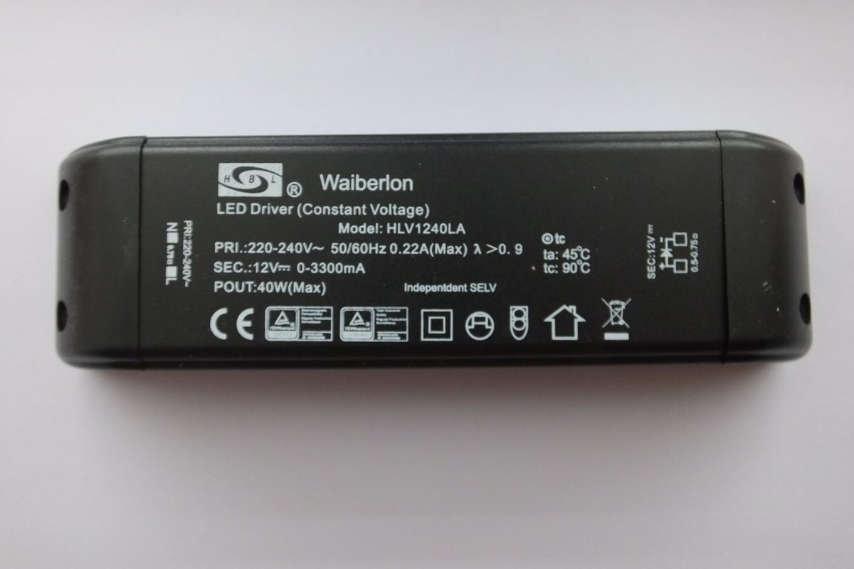 HUIBOLONG WAIBERLON HLV1212BS PLUG IN LED DRIVER