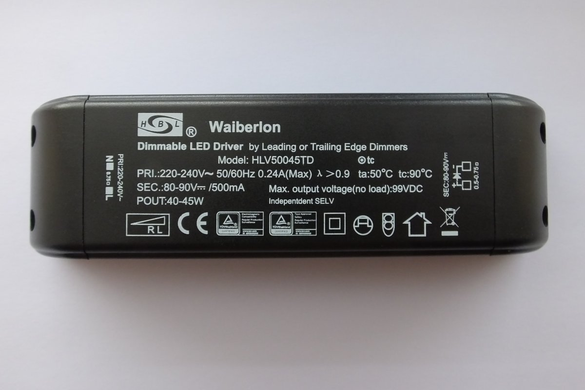 WAIBERLON HLV50045TD DIMMABLE CONSTANT CURRENT LED DRIVER