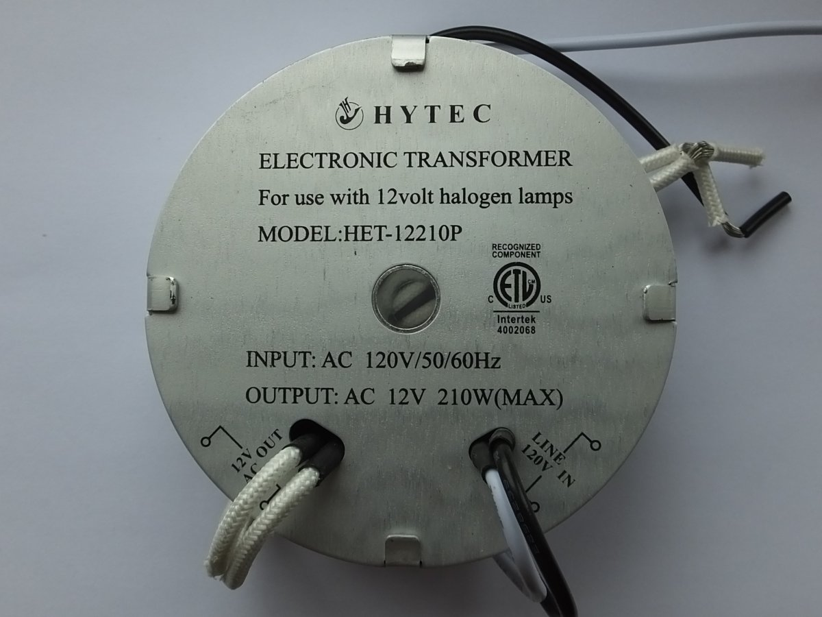 HYTEC HET-12210P 120v 210w ELECTRONIC TRANSFORMER (DISCONTINUED)