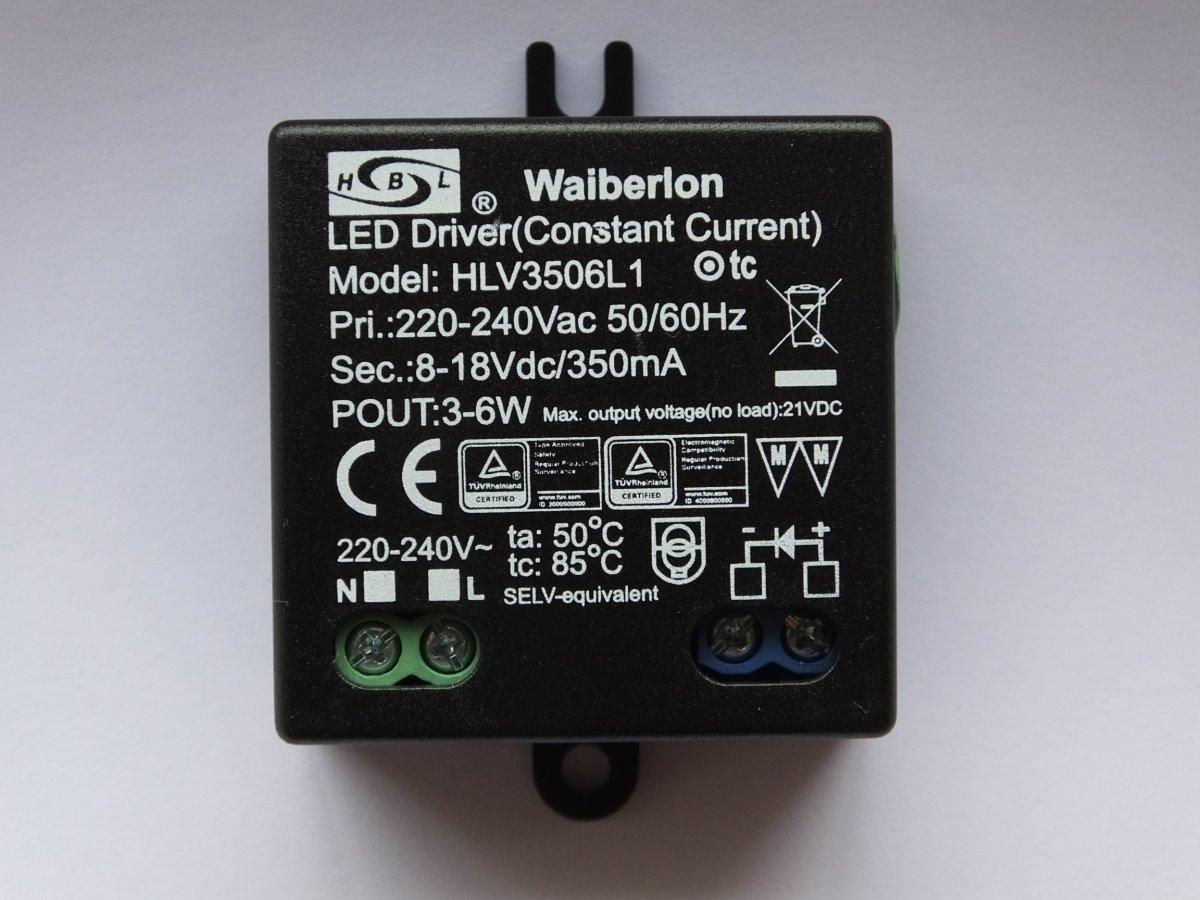 WAIBERLON HLV3506L1 CONSTANT CURRENT LED DRIVER