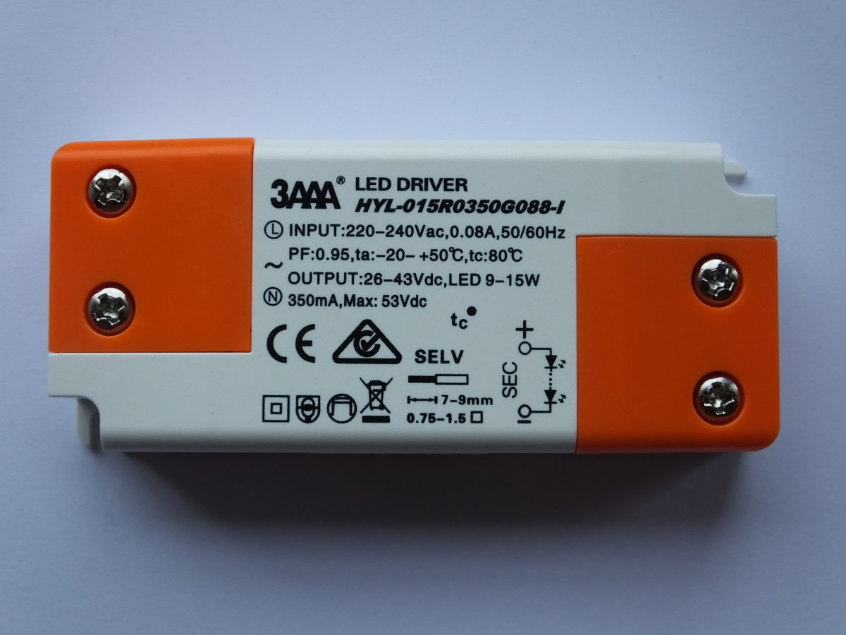 3AAA HYL-015R0350G088-I 15w CONSTANT CURRENT LED DRIVER