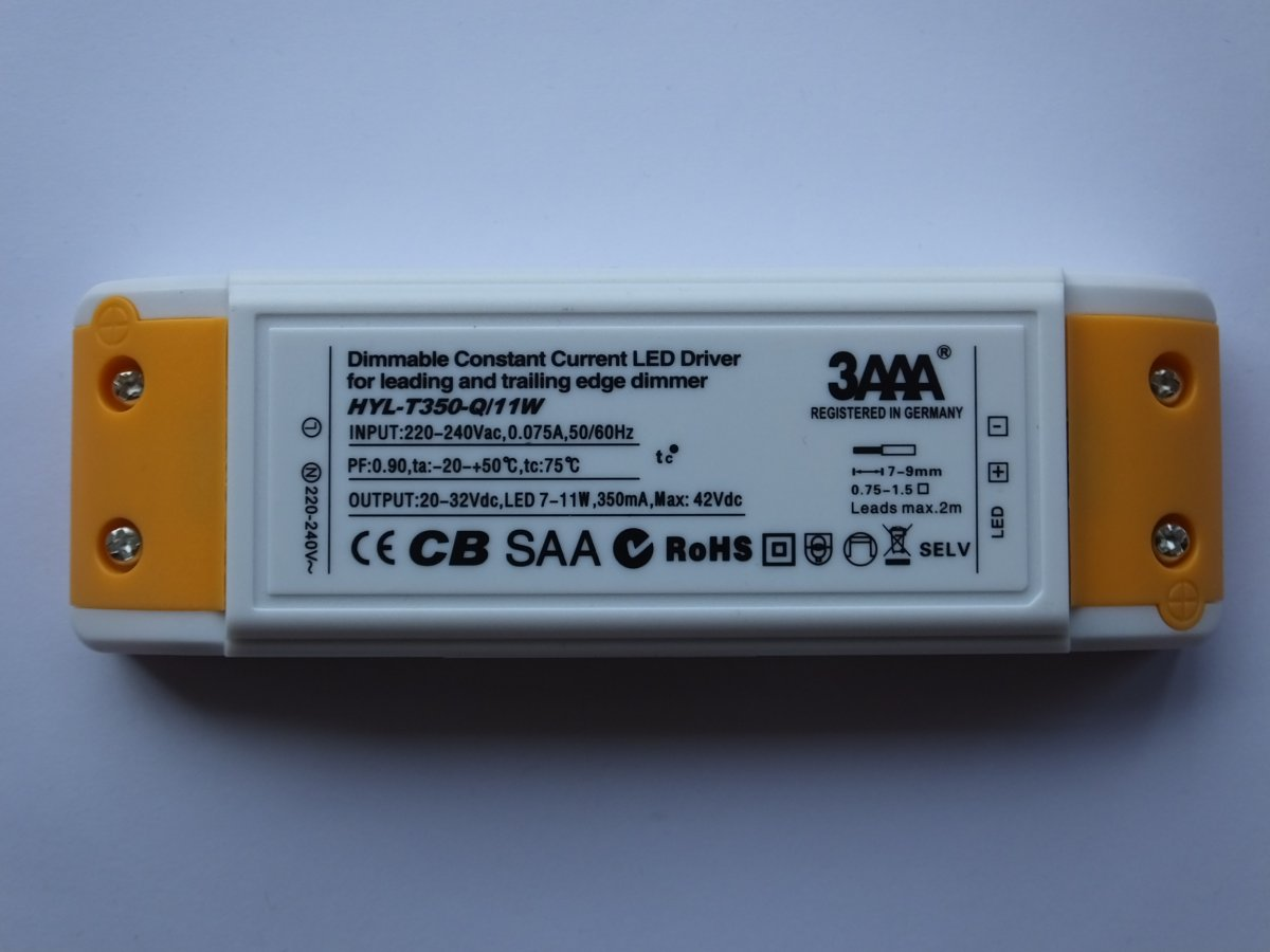 3AAA HYL-T350-Q/11W 11w CONSTANT CURRENT DIMMABLE LED DRIVER