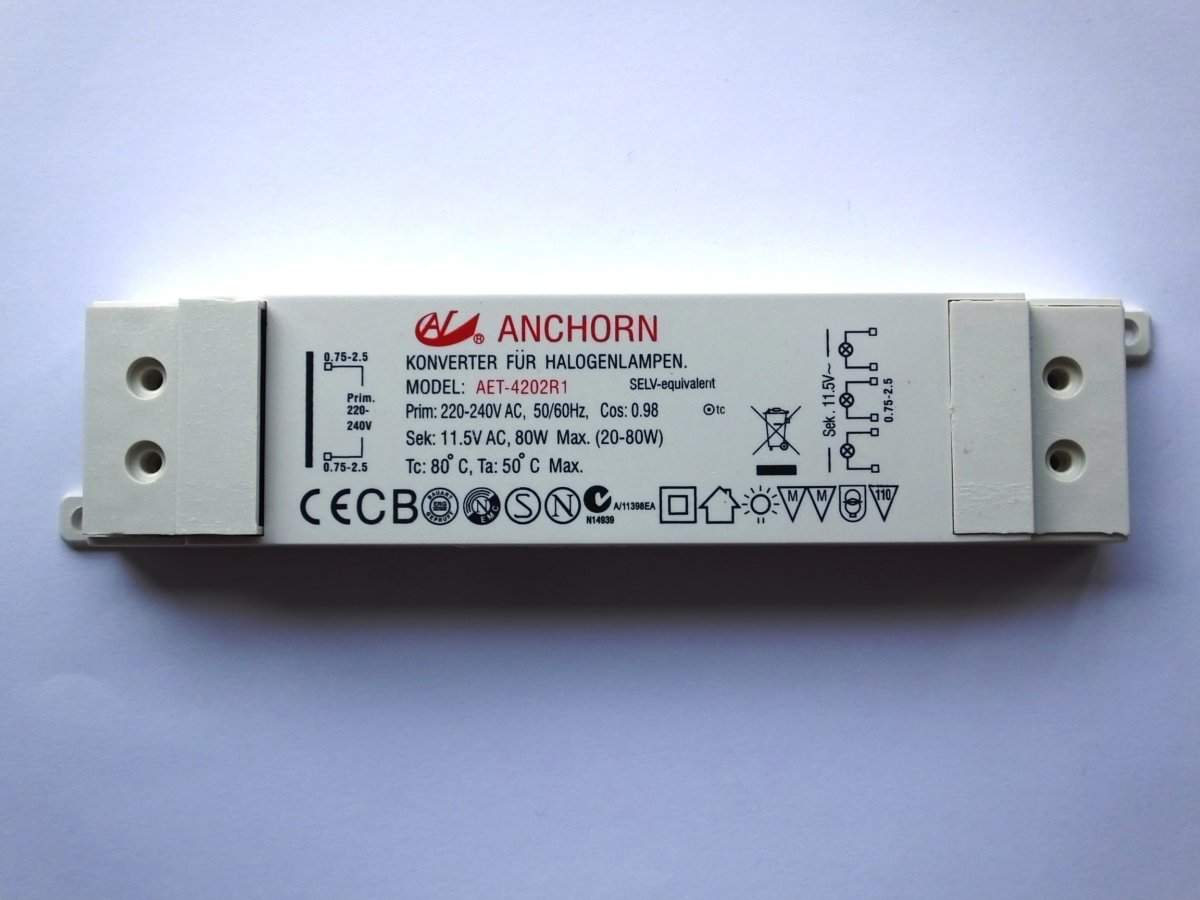 ANCHORN AET-4202R1 80w ELECTRONIC TRANSFORMER