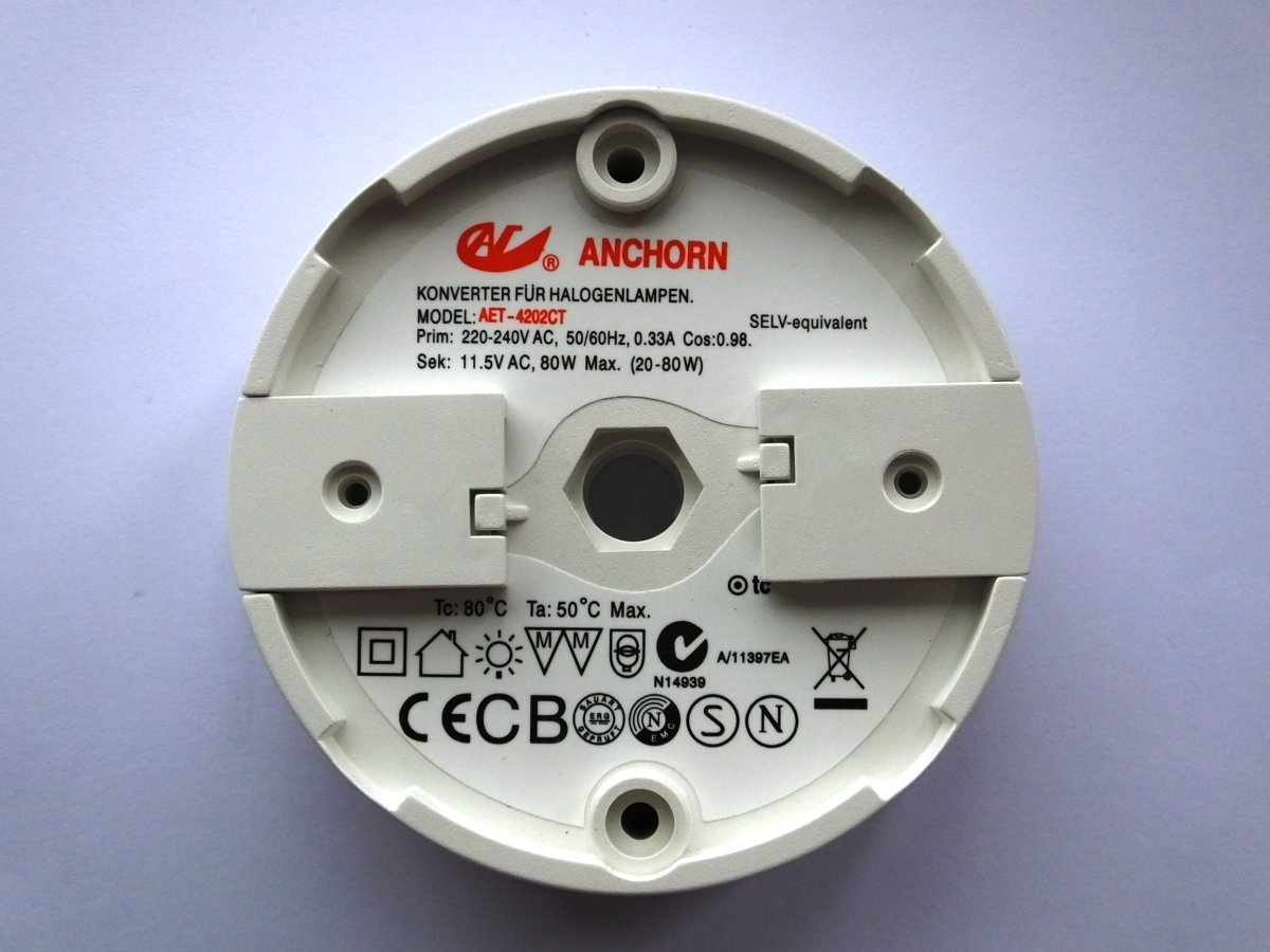 ANCHORN AET-4202CT 80w ELECTRONIC TRANSFORMER