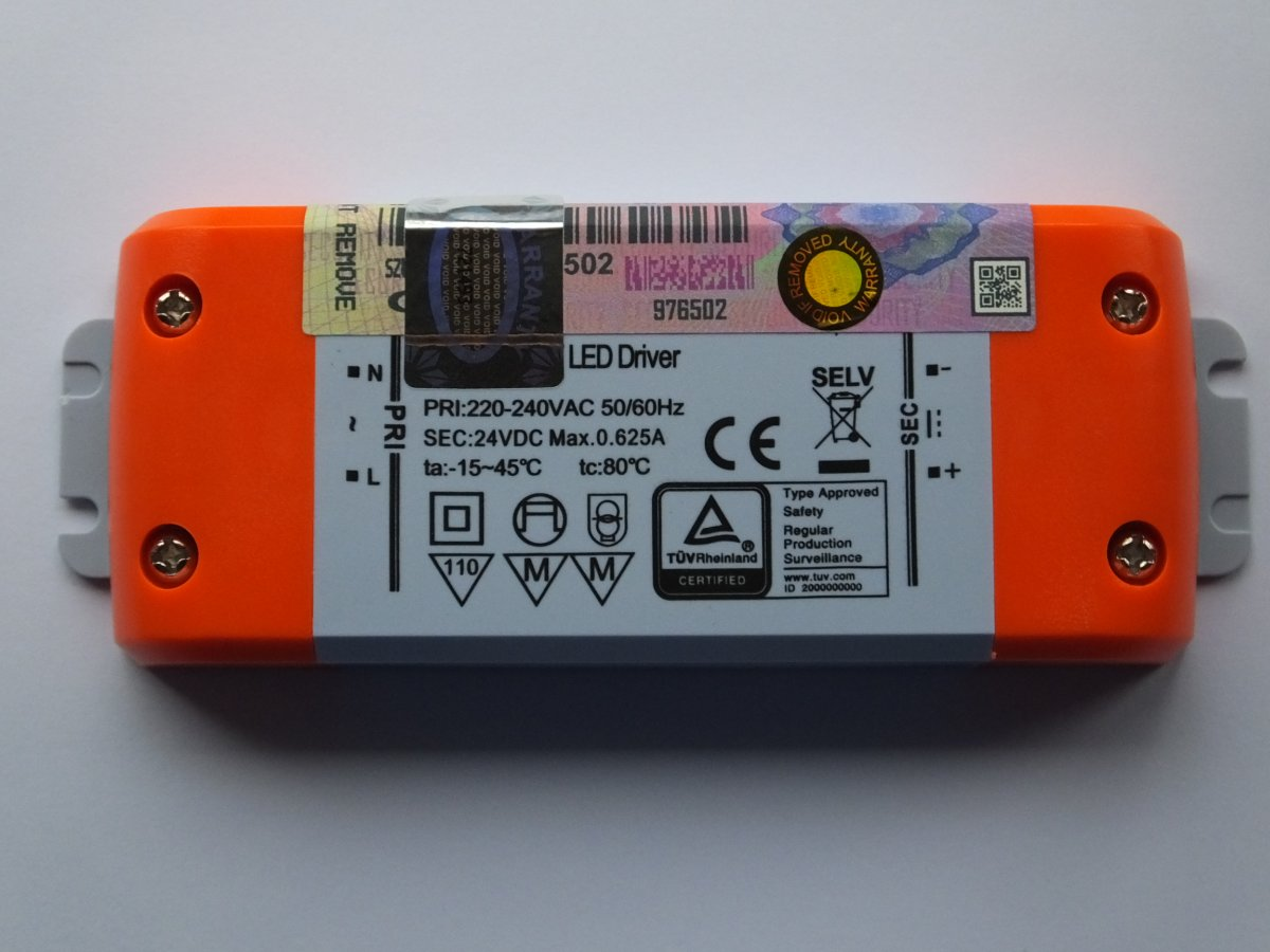SML SLT15-24VF-1 24v 15w LED DRIVER CONSTANT VOLTAGE