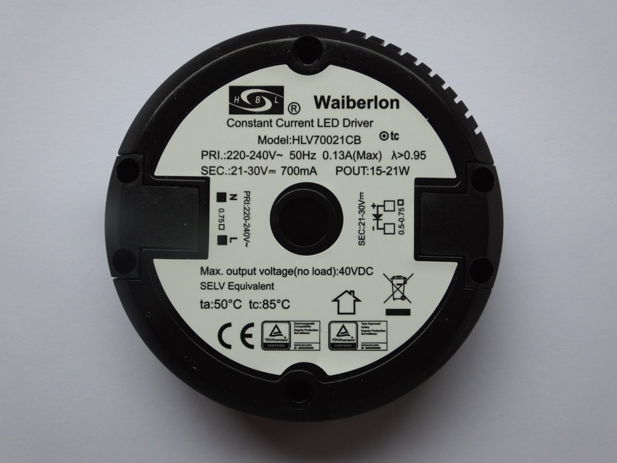 WAIBERLON HLV1270LA CONSTANT VOLTAGE LED DRIVER