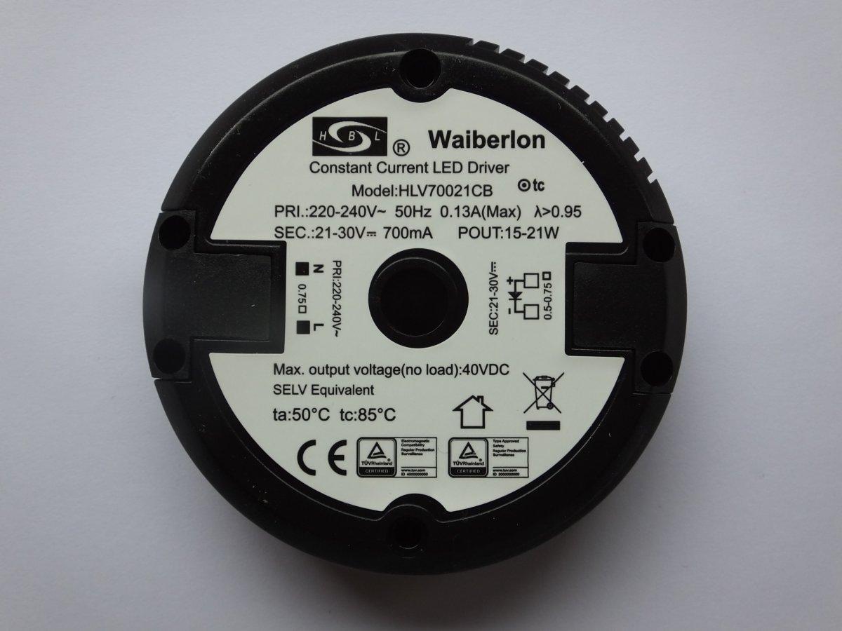 WAIBERLON HLV1203L1 CONSTANT VOLTAGE LED DRIVER