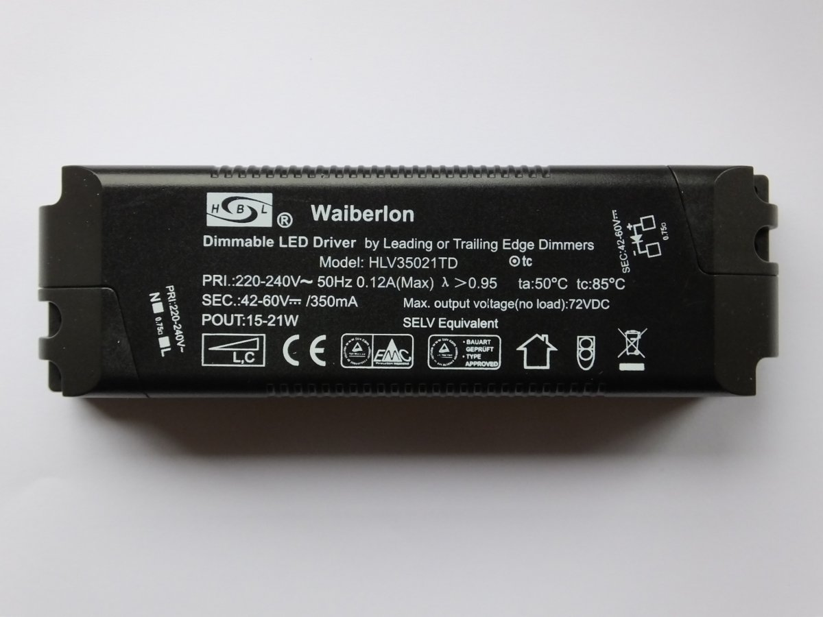 WAIBERLON HLV35021TD DIMMABLE CONSTANT CURRENT LED DRIVER