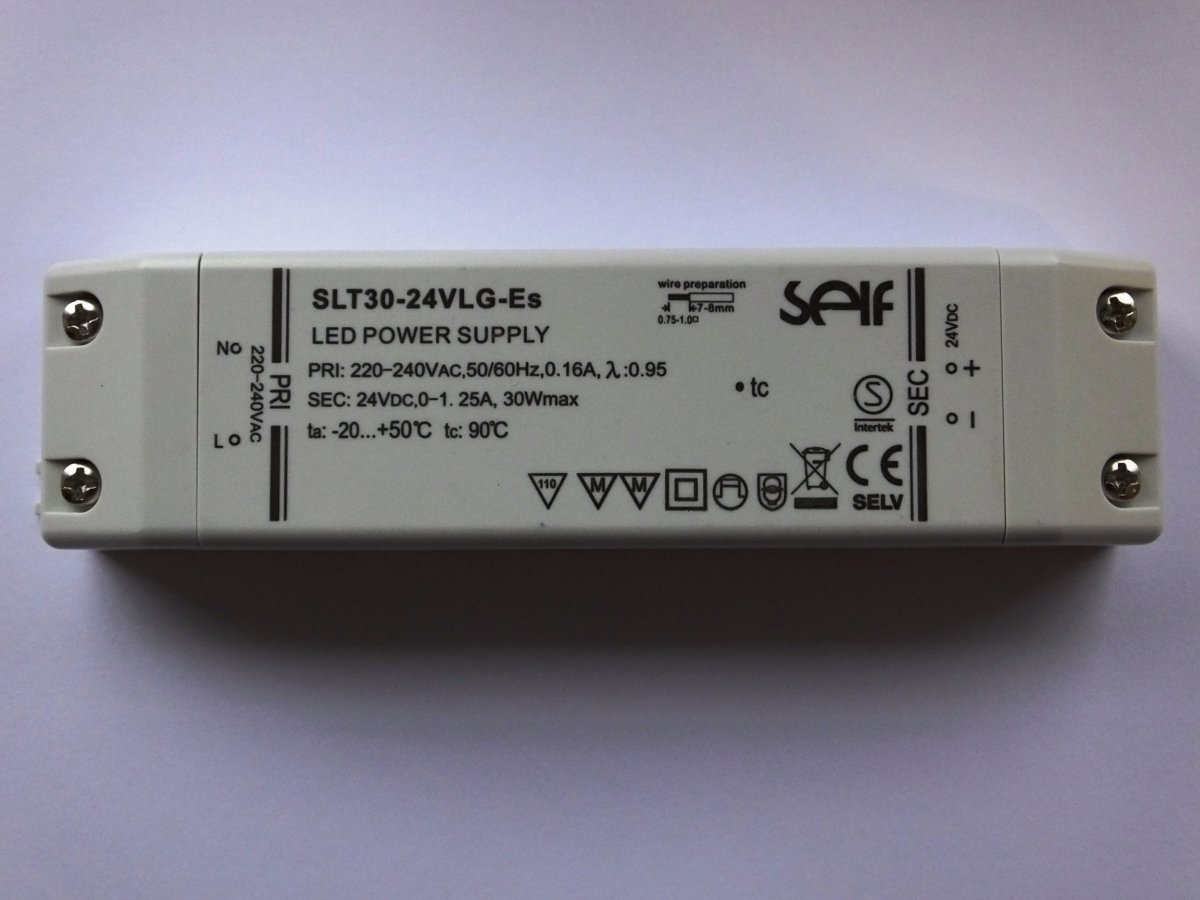 SELF SLT30-24VLG-ES 24v 30w CONSTANT VOLTAGE LED DRIVER