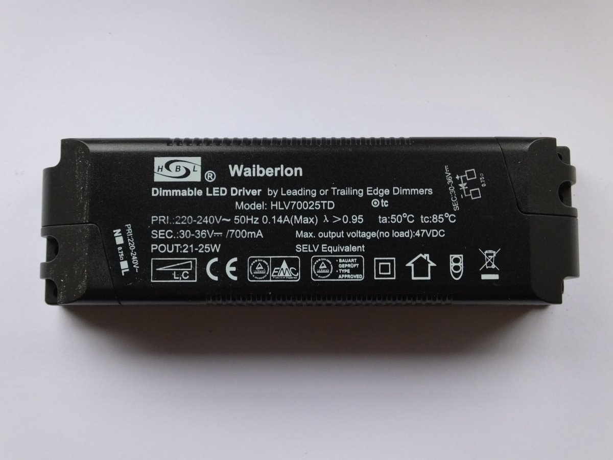 WAIBERLON HLV70025TD DIMMABLE CONSTANT CURRENT LED DRIVER