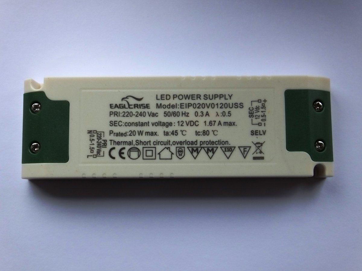 EAGLERISE EIP020V0120USS 12v 20w LED DRIVER CONSTANT VOLTAGE