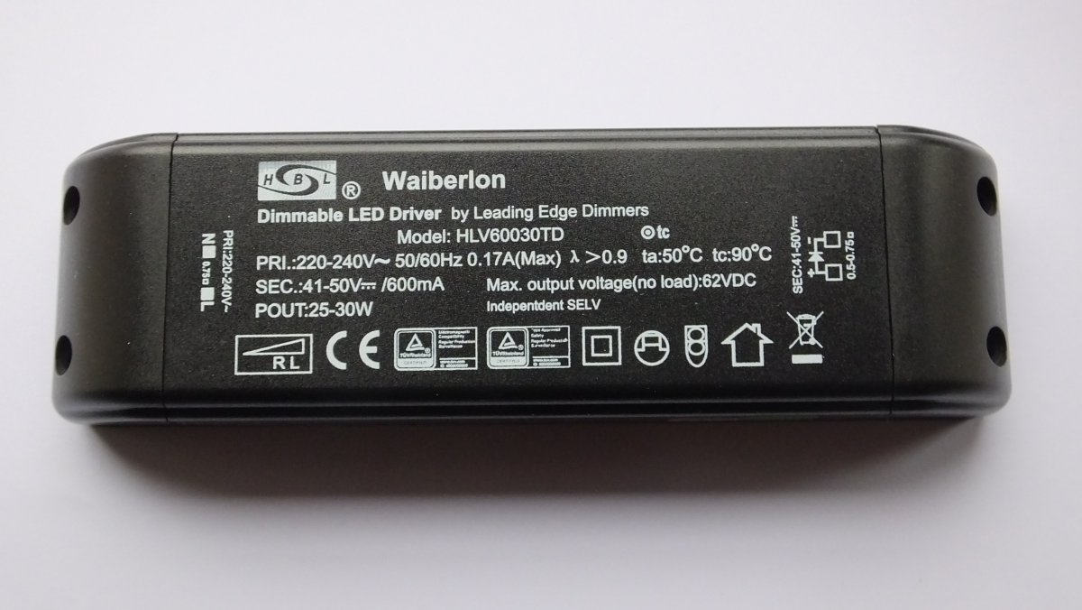 WAIBERLON HLV60030TD DIMMABLE CONSTANT CURRENT LED DRIVER