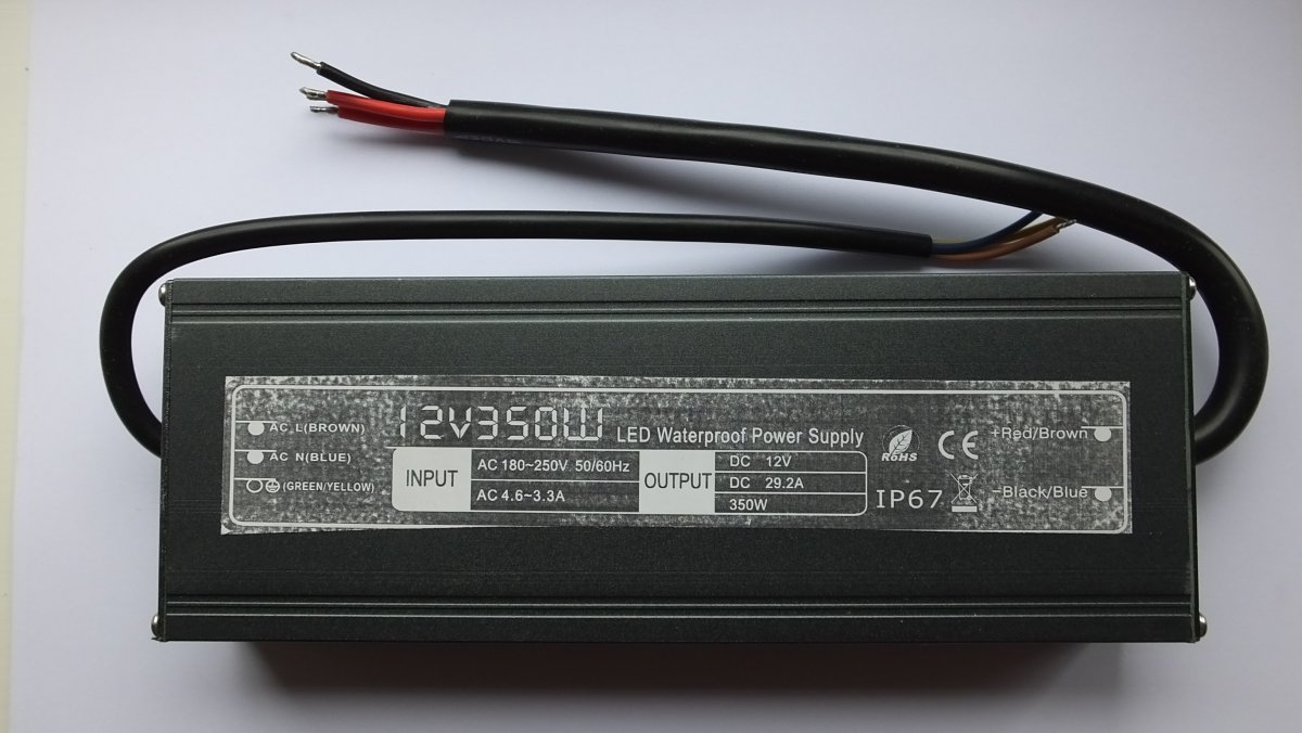 SML ULTRA THIN WATERPROOF IP67 LED DRIVER 350w