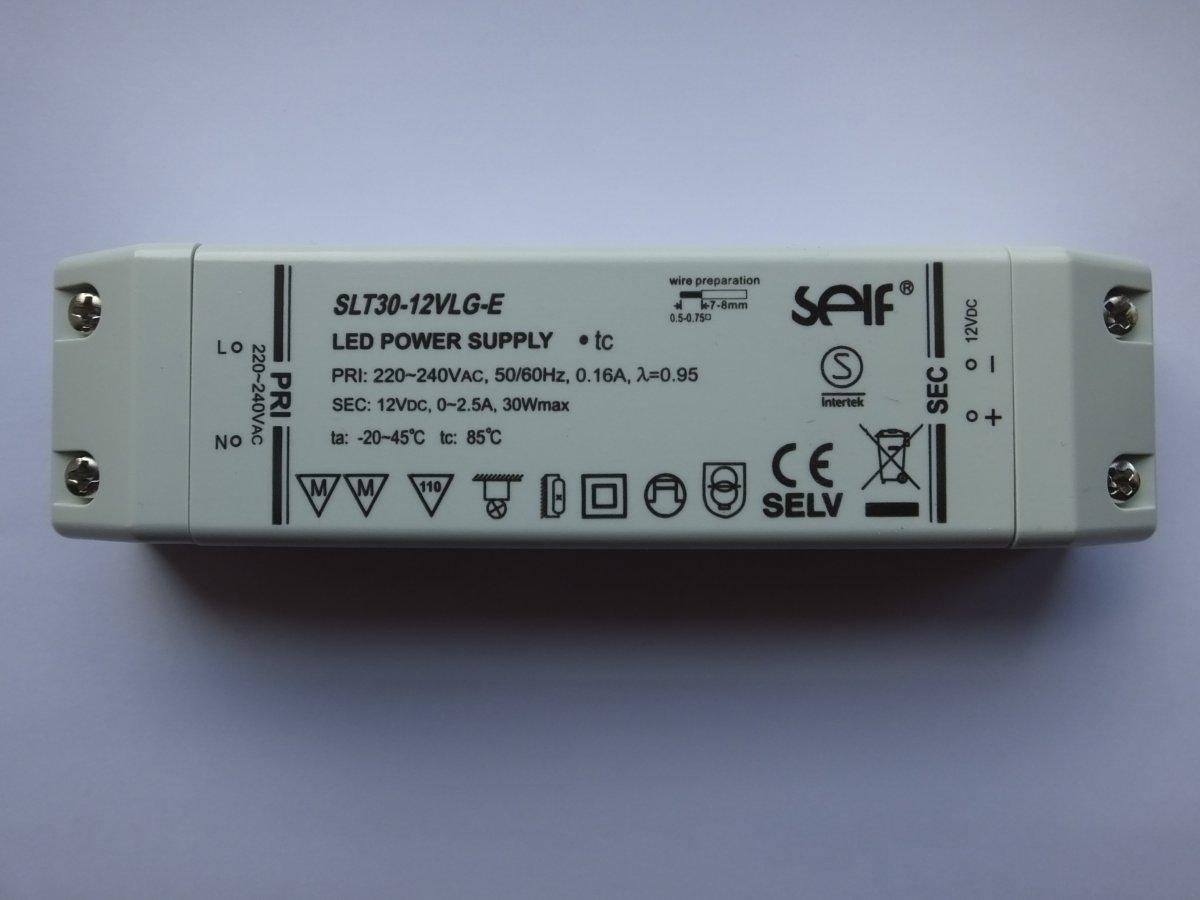 SELF SLT30-12VLG-E 12v 30w CONSTANT VOLTAGE LED DRIVER