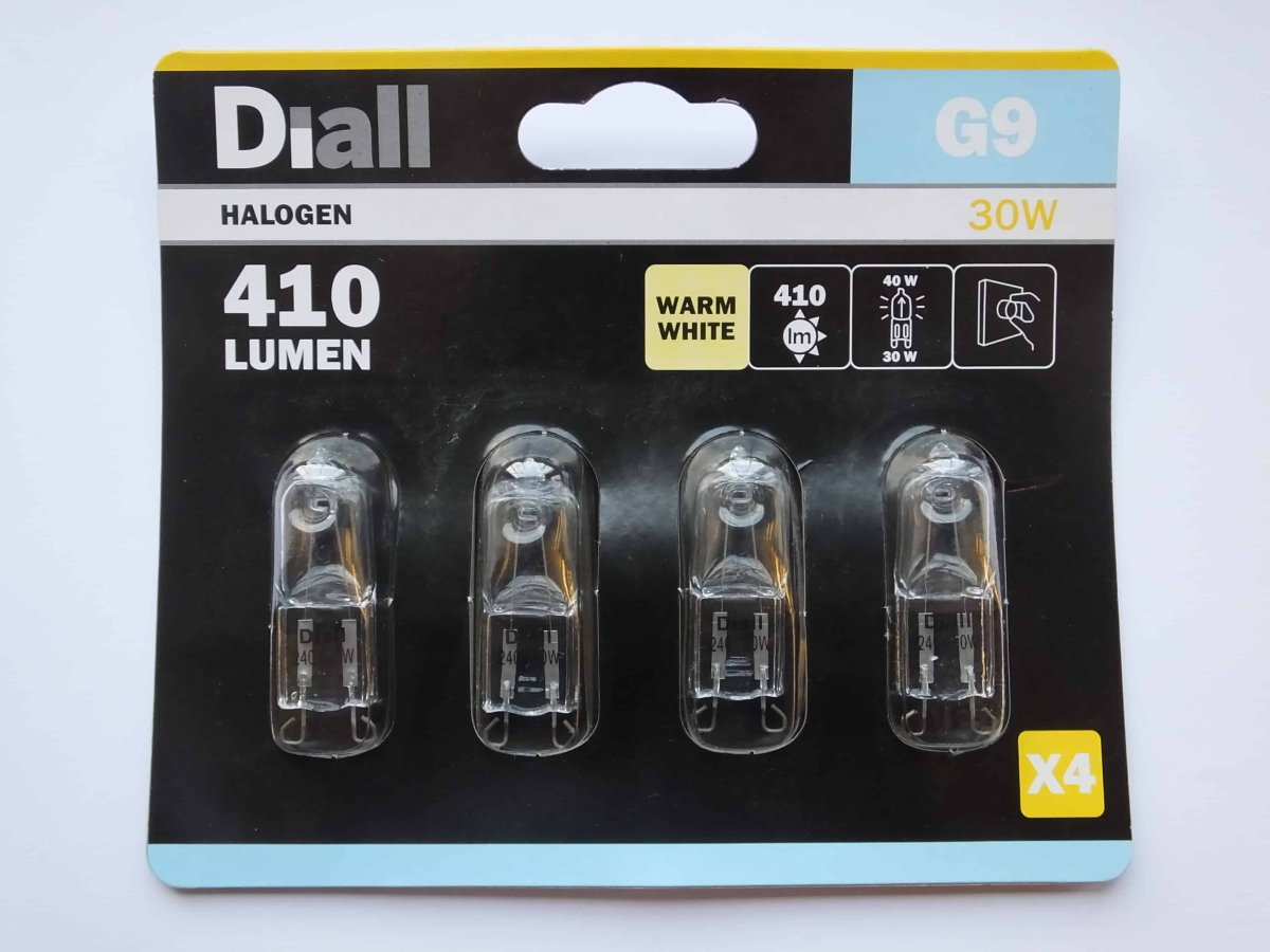 G9 30w 240v HALOGEN CAPSULE BULBS