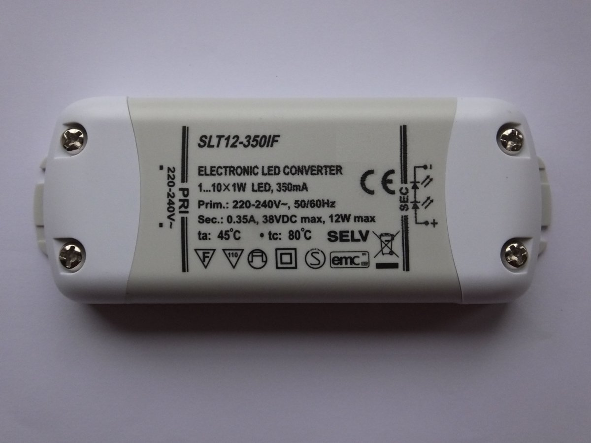 SELF SLT12-350IF 12w LED DRIVER CONSTANT CURRENT (REV1.0)