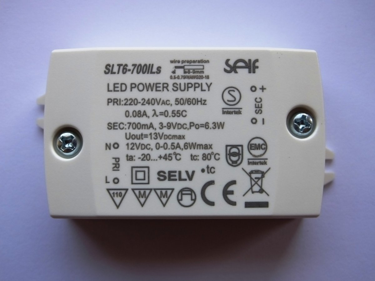 SELF SLT6-700IL 12v 6w LED DRIVER COURANT CONSTANT